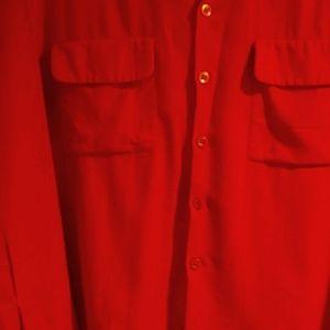 😎 2 For$30🍀 Very Nice Red Viyella shirt 🎯